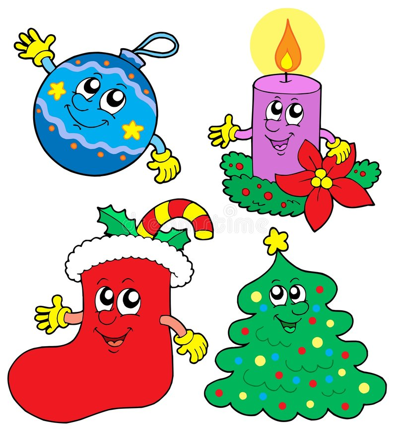Download Cute Cristmas Illustrations Collection Stock Vector - Image: 6876739