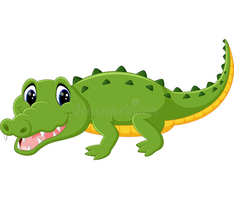 Cute crocodile cartoon stock vector. Illustration of baby ...