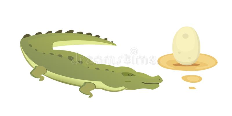 Cute Crocodile set. Aligator vector cartoon illustration stock illustration
