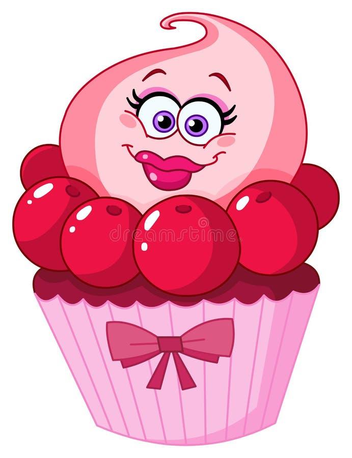 Cute cupcake vector illustration