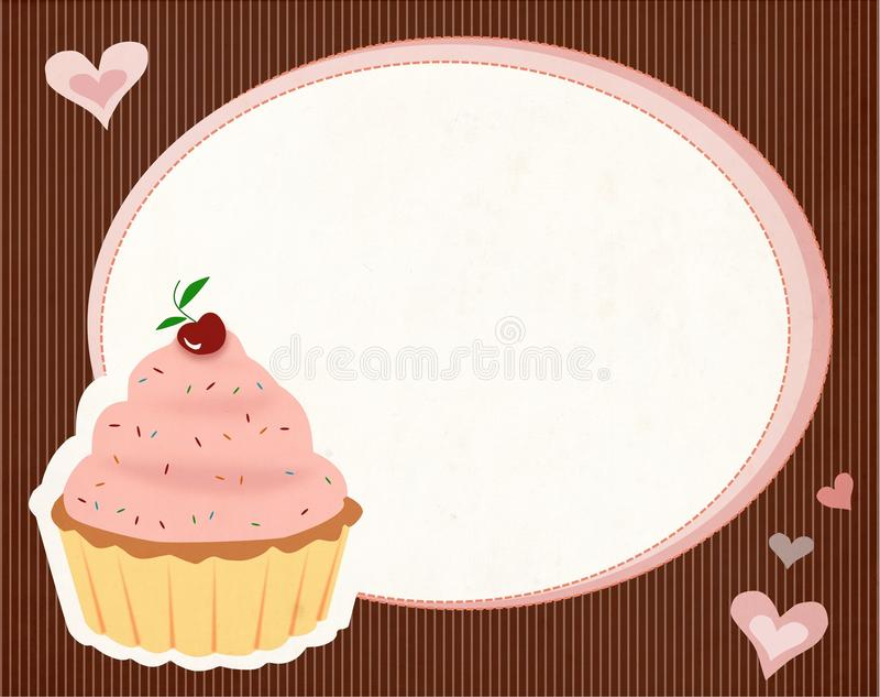 Cute cupcake background vector illustration