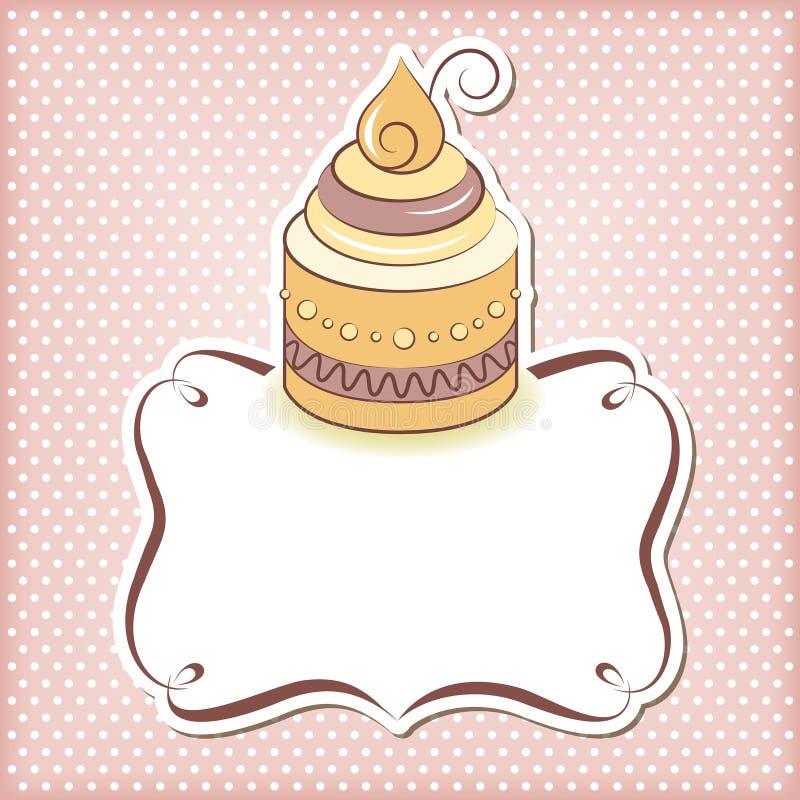 Cute cupcake frame stock illustration