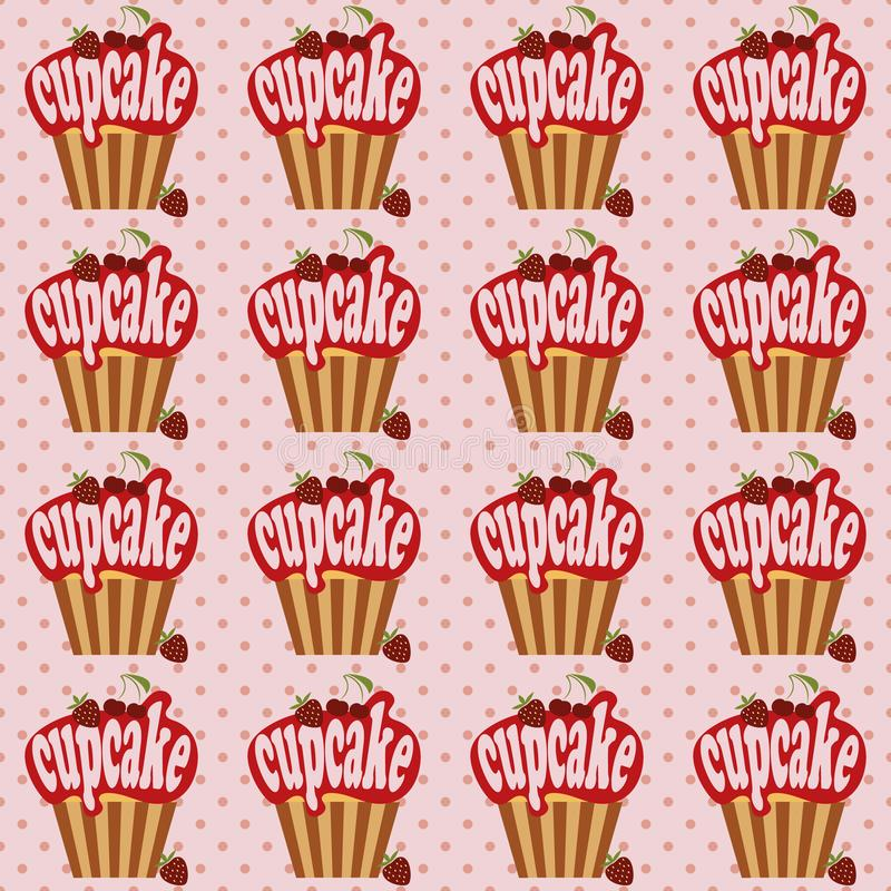 Cute cupcake illustration stock