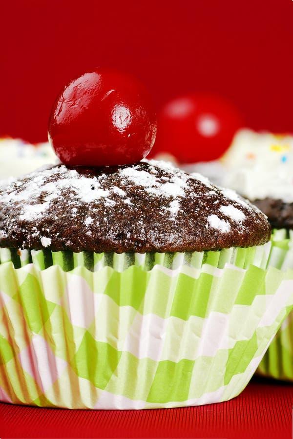 Download Cute Cupcake With Maraschino Cherry Stock Photos - Image: 26343643