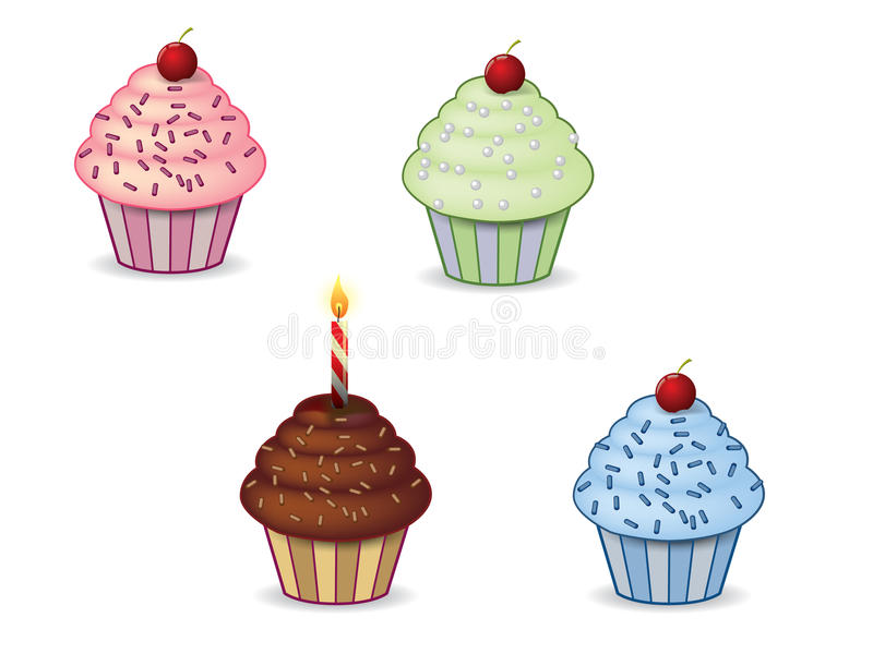 Download Cute cupcakes stock vector. Image of cream, sweet, illustration - 25948776