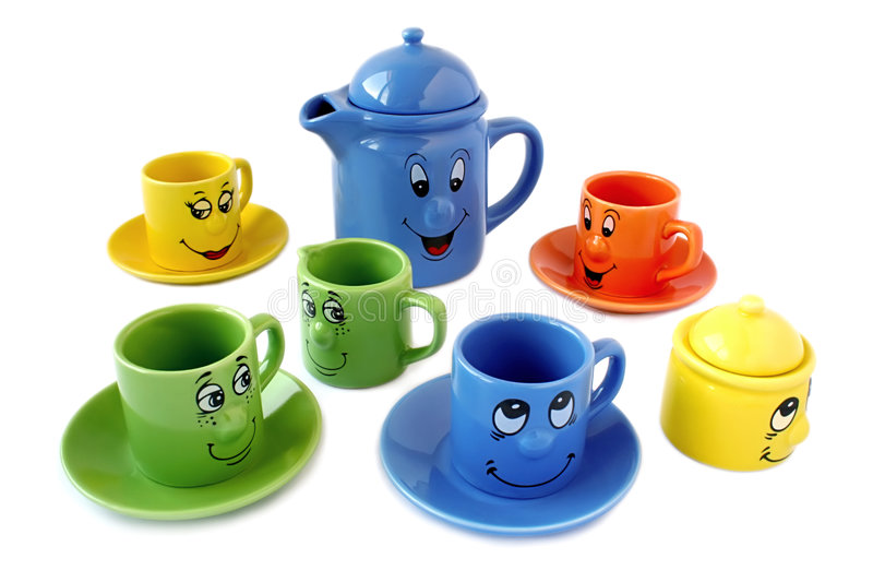 Cute cups royalty free stock images