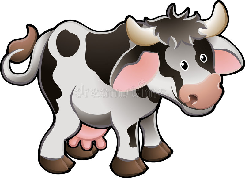 Download Cute Dairy Cow Vector Illustration Stock Vector - Image: 4960637