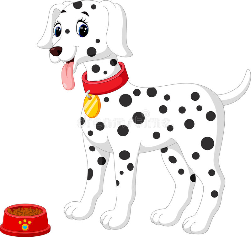 cute dalmation dog stock illustration