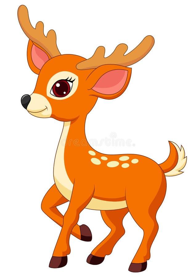 Free Cute Deer Cartoon Royalty Free Stock Images - 33230469
