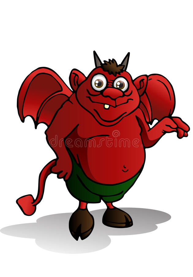 Download Cute devil stock illustration. Image of painting, schytes - 26599326