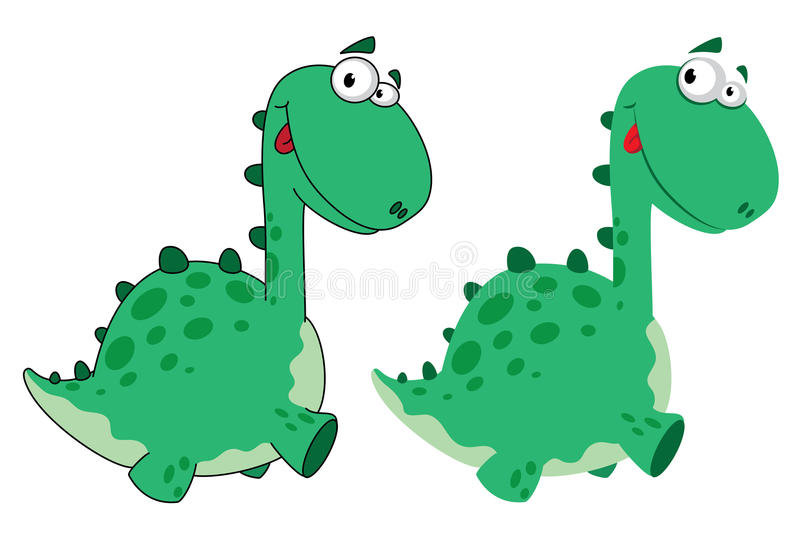 Download Cute dino cartoon stock vector. Image of dinosaur, smile - 23313646