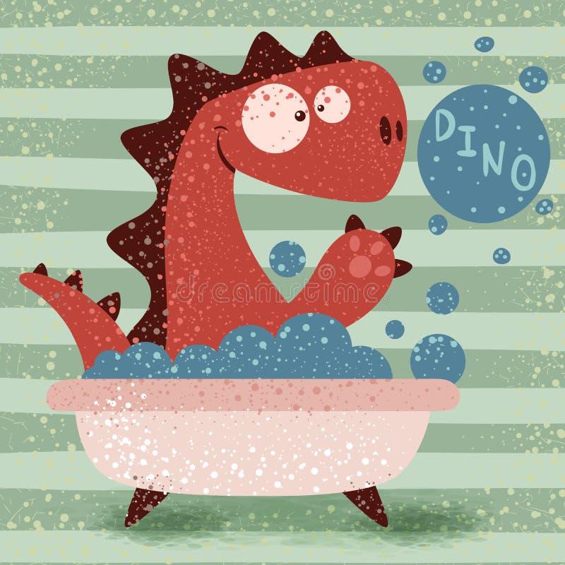 Girl In The Bath Tub Stock Vector Illustration Of