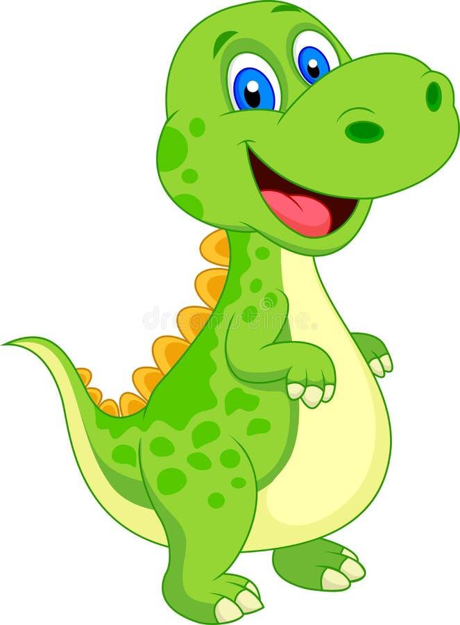 Cute dinosaur cartoon royalty free illustration