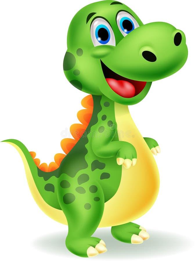 Cute dinosaur cartoon vector illustration