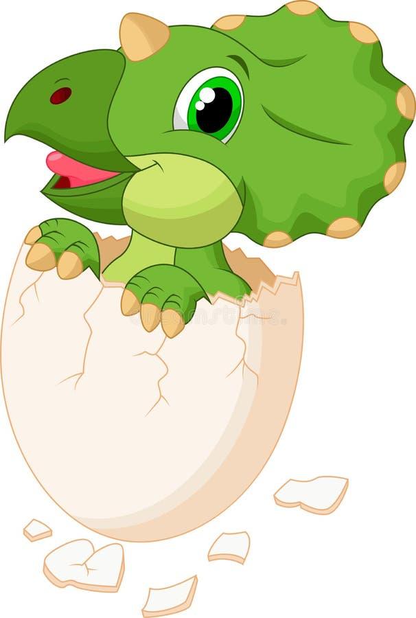 Cute dinosaur hatching. Illustration of Cute dinosaur hatching royalty free illustration