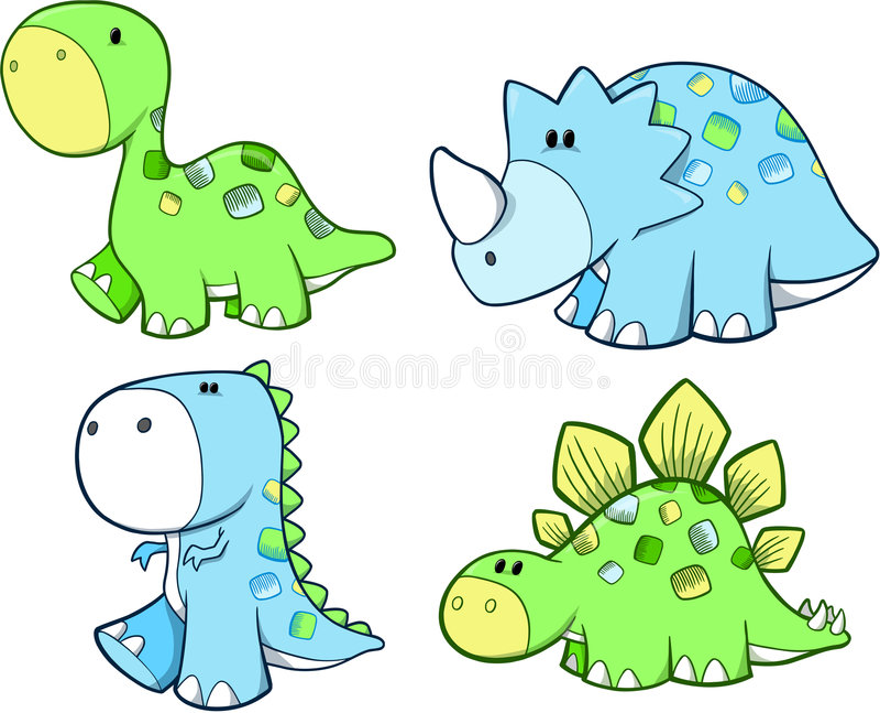 Cute Dinosaur Set royalty free stock photos
