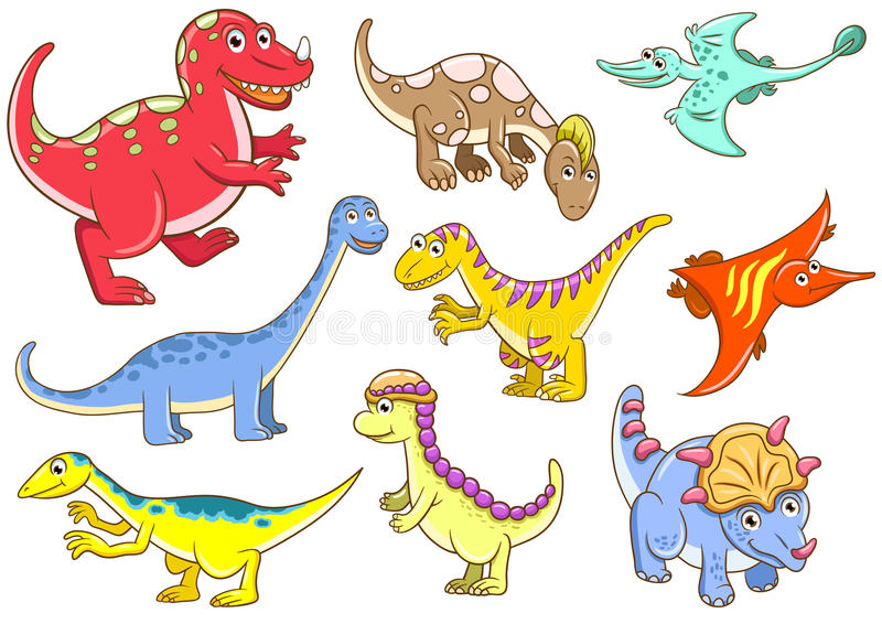 Download Cute dinosaurs stock vector. Image of monster, ground - 29994487