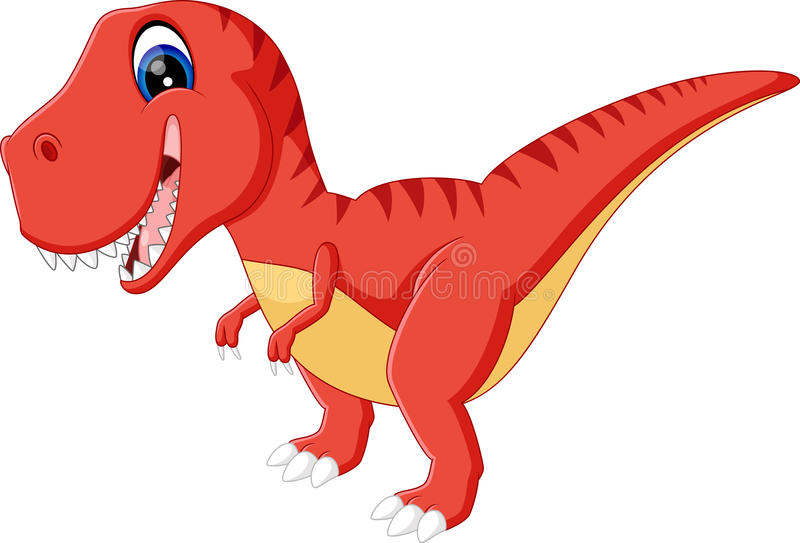 Cute dinosaurs. Illustration of cute dinosaurs cartoon vector illustration