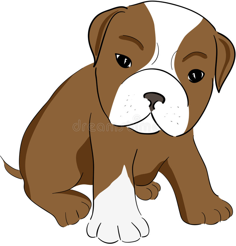 Cute dog stock illustration