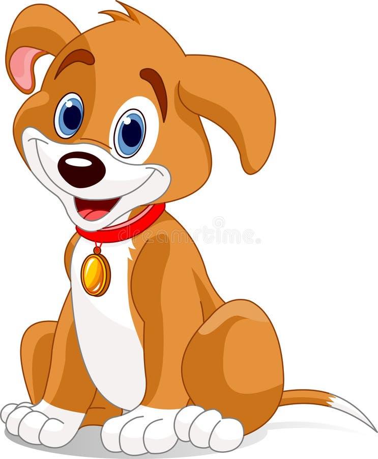 Cute dog royalty free illustration