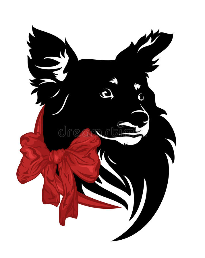 Great Ribbon Bow Adorable Dog - cute-dog-bow-little-red-ribbon-vector-design-67533346  Best Photo Reference_177862  .jpg