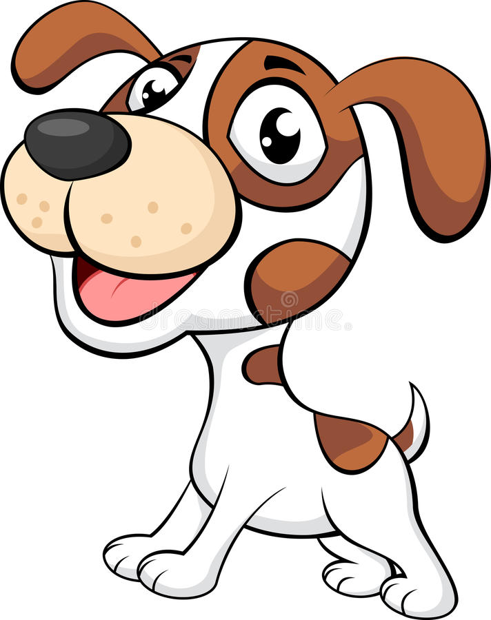 Cute dog cartoon. Illustration of Cute dog cartoon royalty free illustration