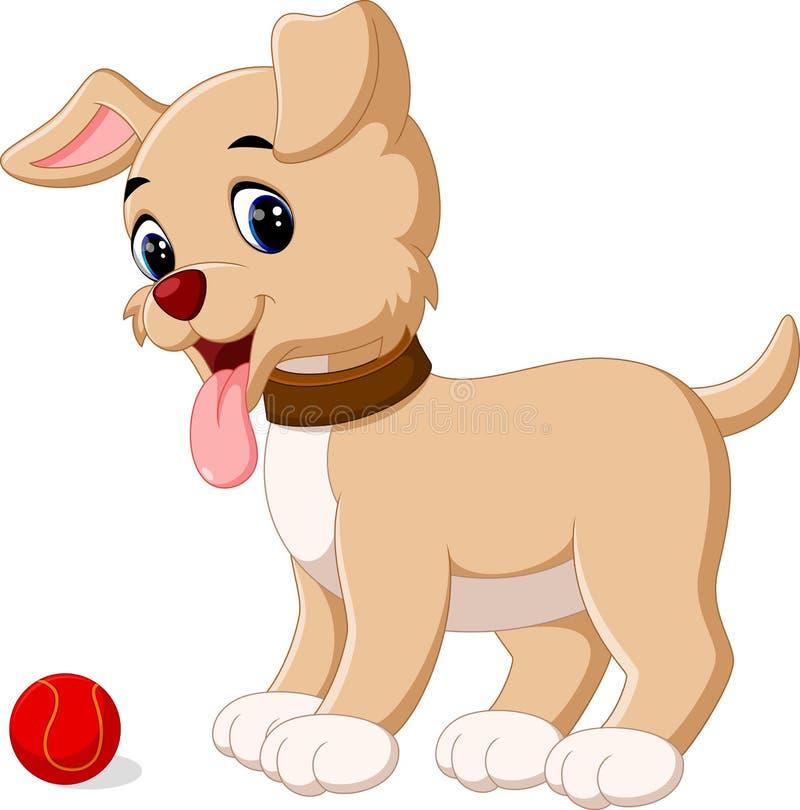 Cute dog cartoon. Illustration of Cute dog cartoon vector illustration