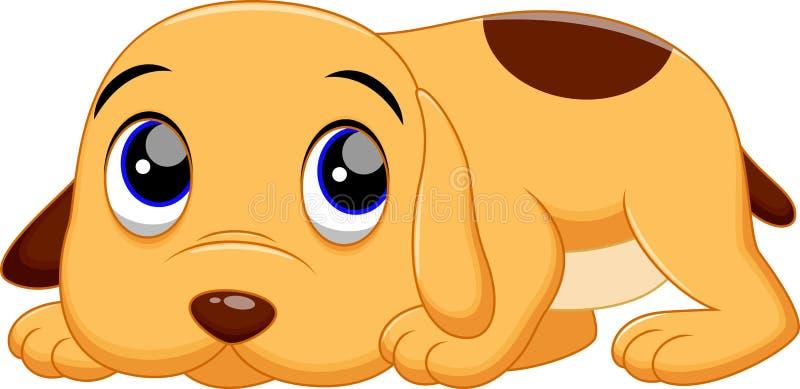 Cute dog cartoon. Illustration of cute baby dog cartoon vector illustration