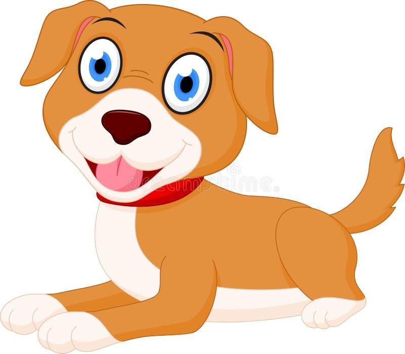 Cute dog cartoon. Illustration of Cute dog cartoon isolated on white vector illustration
