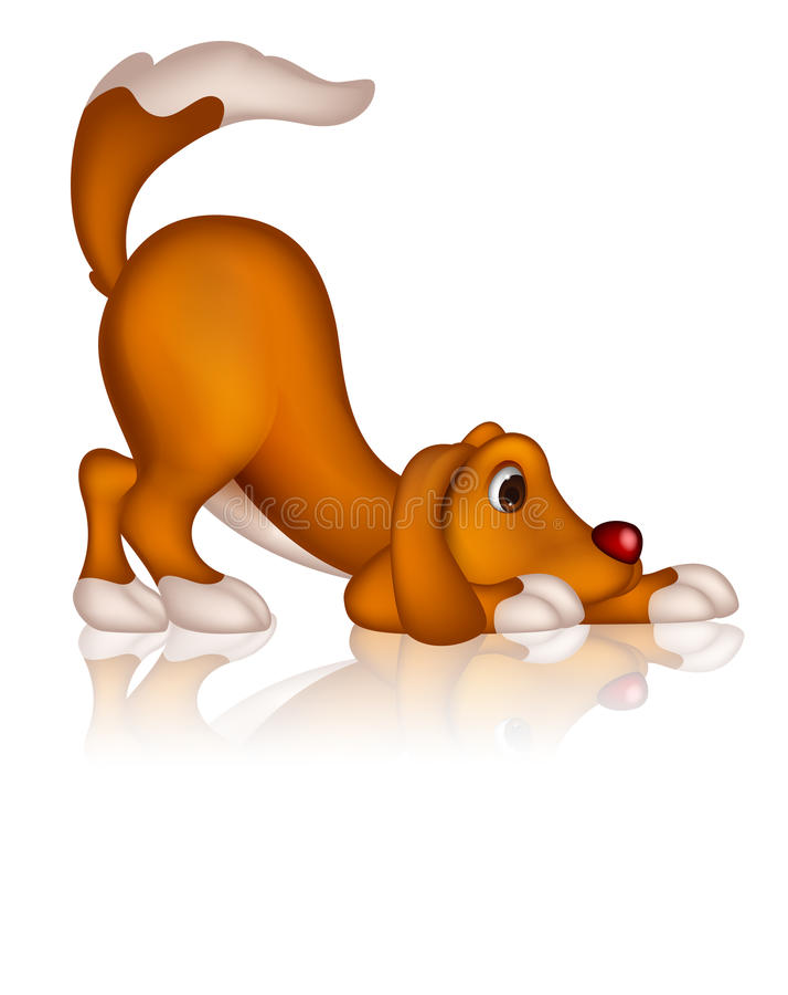 Cute dog cartoon posing. Illustration of cute dog cartoon posing stock illustration