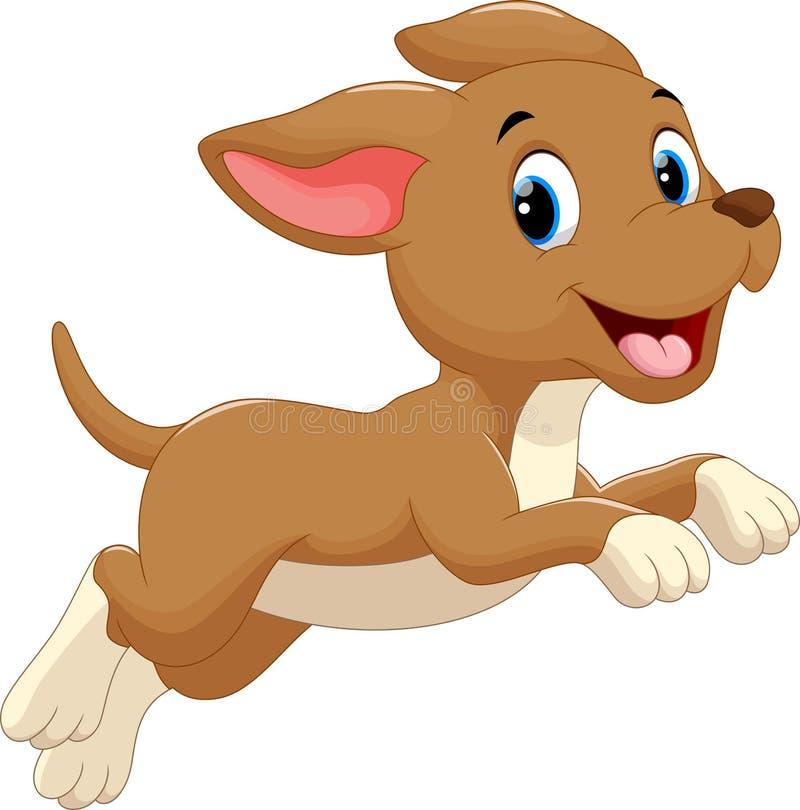 Cute dog cartoon running. Vector illustration of cute dog cartoon running royalty free illustration