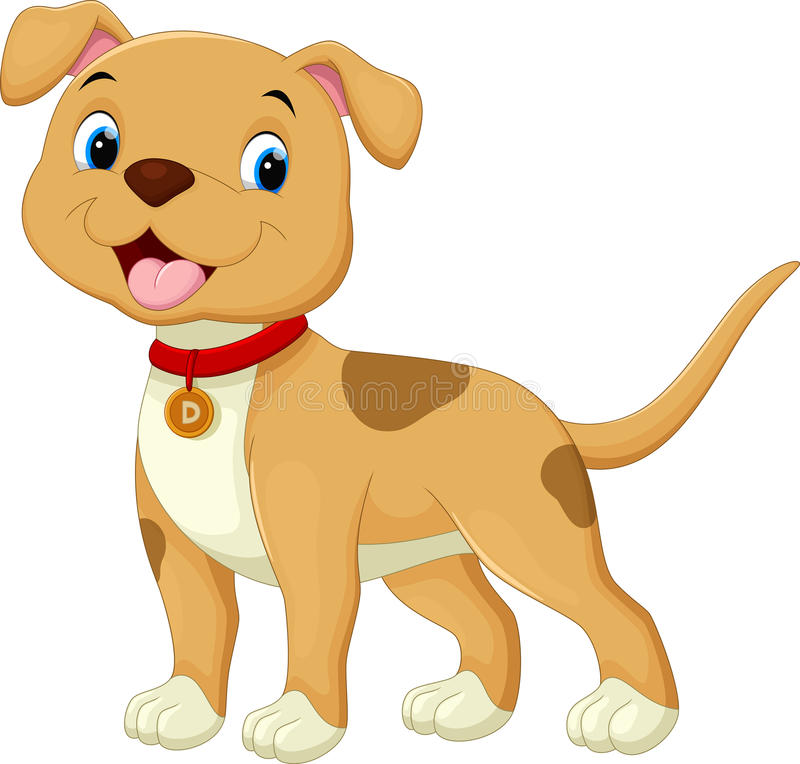 Cute dog cartoon. Vector illustration of cute dog cartoon isolated on white background vector illustration