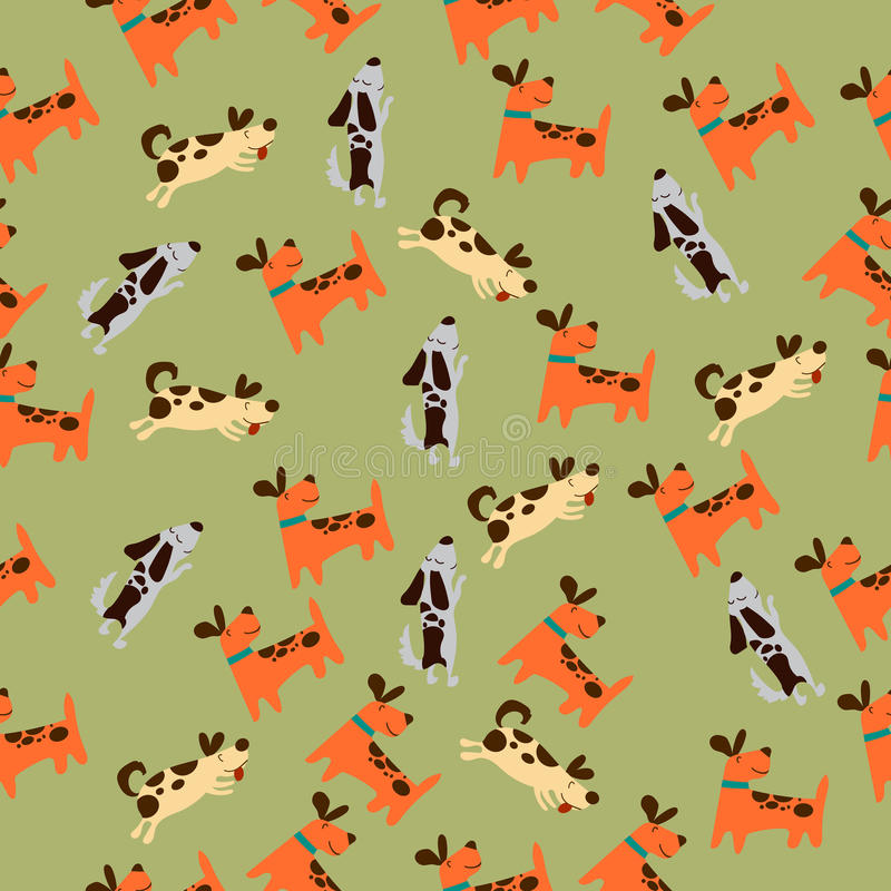 Cute dog or puppy. High quality original trendy vector seamless pattern with cute dog or puppy. Dog best friend stock illustration