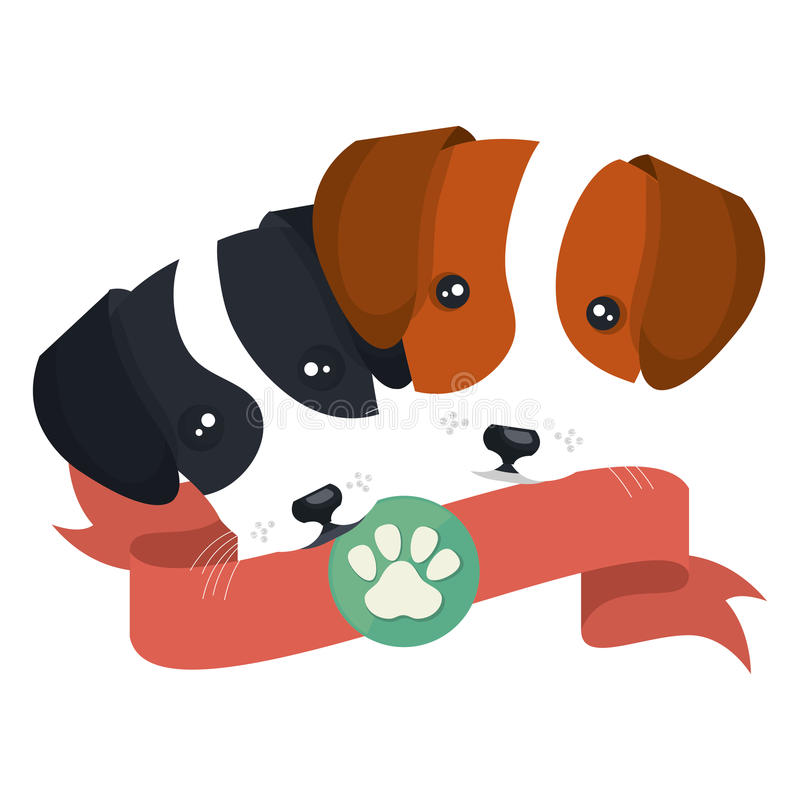 cute dogs isolated icon vector illustration