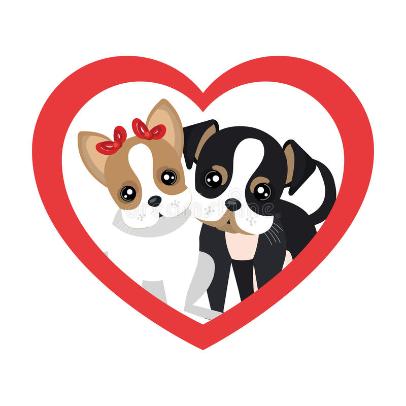 cute dogs isolated icon royalty free illustration