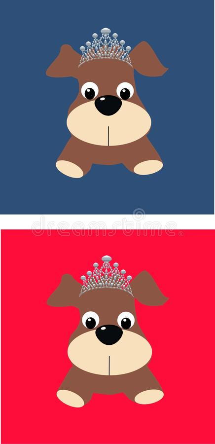 Download Cute Dogs With Silver Crowns Stock Illustration - Image: 16265716
