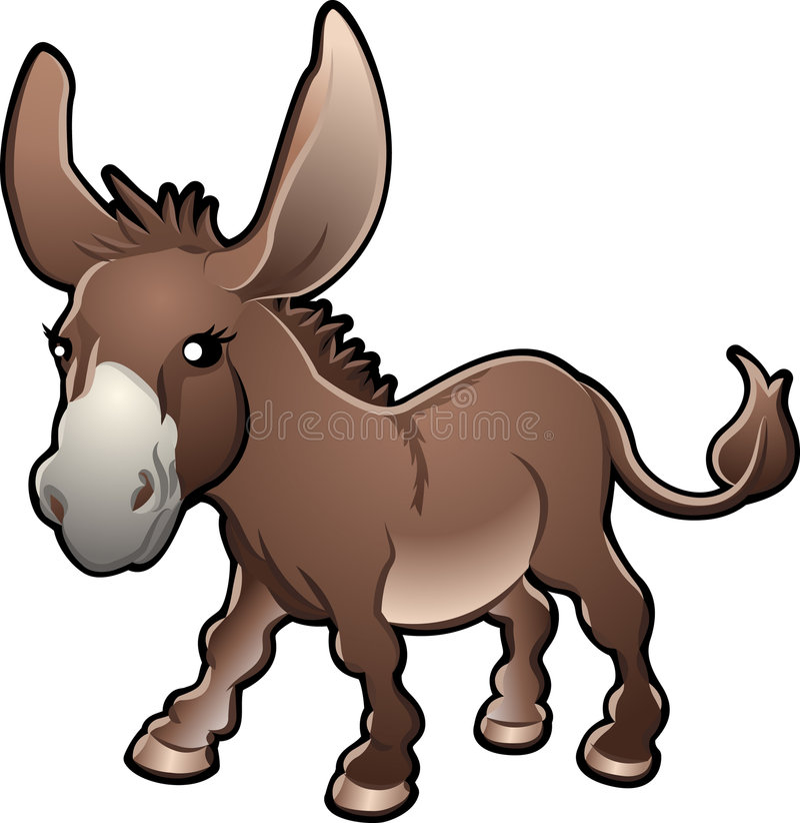 Free Cute Donkey Vector Illustratio Stock Image - 5078901