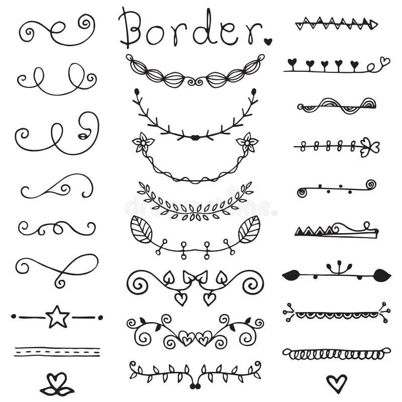 Cute of doodle border vector set in black line stock vector download cute of doodle border vector set in black line stock vector illustration of greeting stopboris Gallery