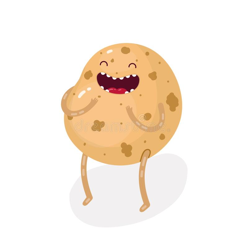 Free Cute Doodle Potatoe Character On A White Background. Royalty Free Stock Photos - 179414978