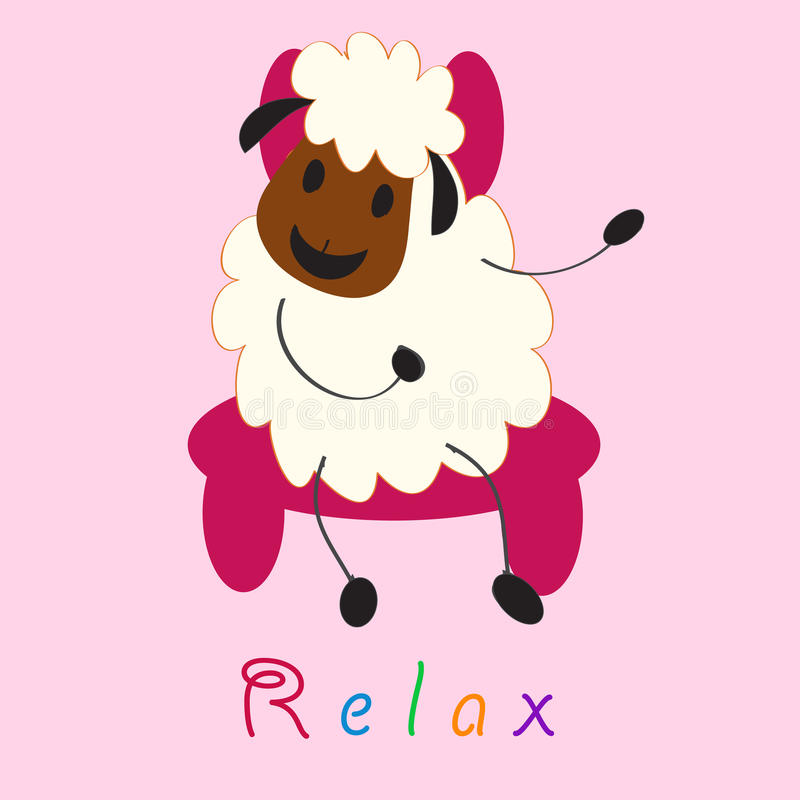 Cute Doodle Sheep Stock Photography