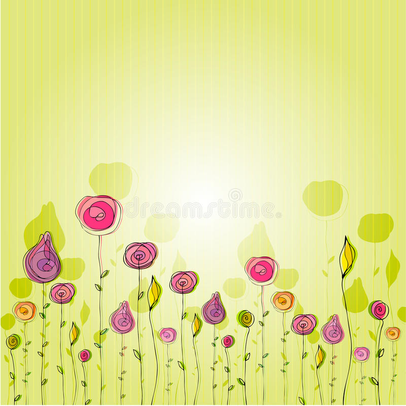 Cute Doodle Summer Background Royalty Free Stock Images
