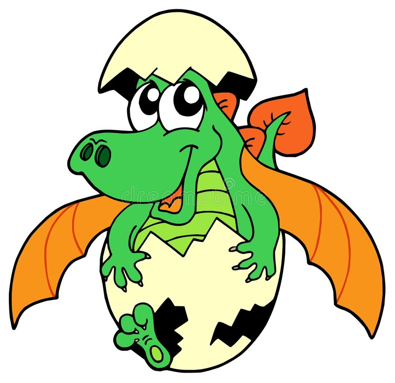 Download Cute dragon in egg stock vector. Image of dino, halloween - 6801126