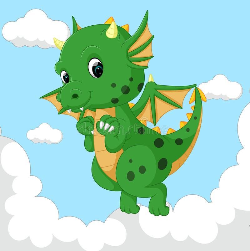 Cute dragon fly stock illustration