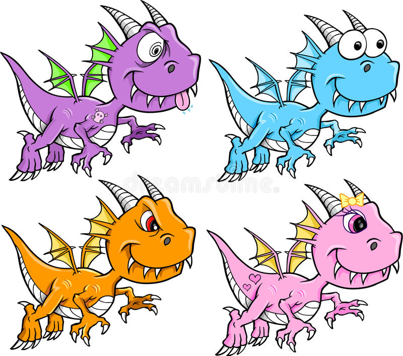 Download Cute Dragon Set Royalty Free Stock Photo - Image: 24234875