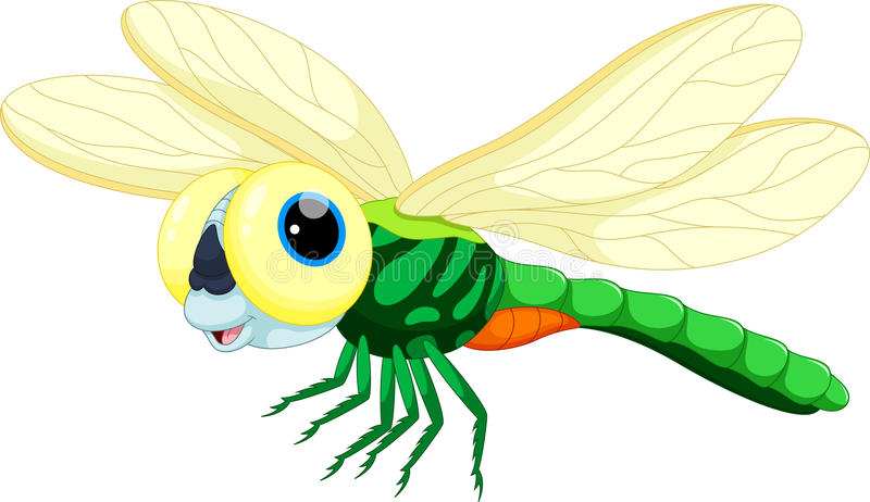 Cute dragonfly cartoon royalty free illustration