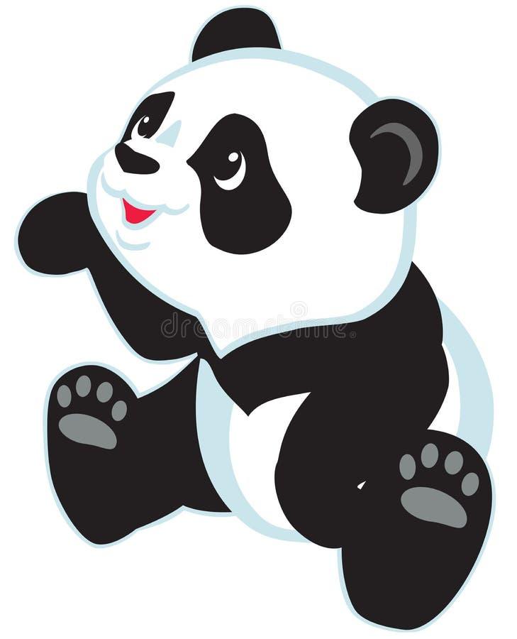 cute draw hand panda ελεύθερη απεικόνιση δικαιώματος