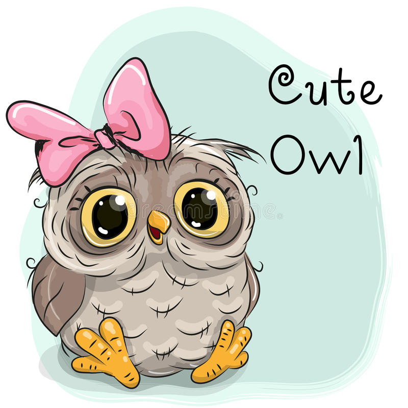 Cute Drawing owl vector illustration