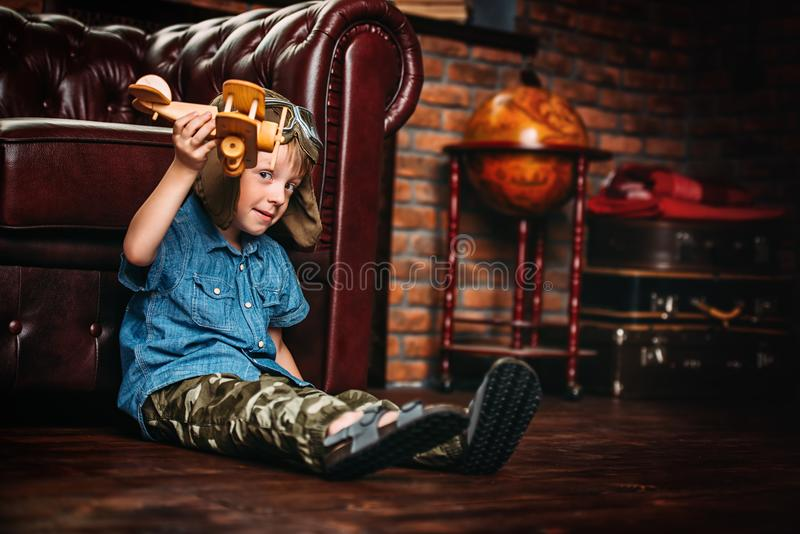 Cute dreamer boy royalty free stock photos