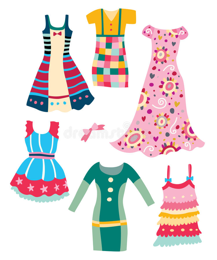 Cute Dresses Royalty Free Stock Image