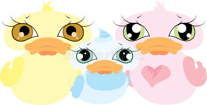 Cute Duck family royalty free illustration